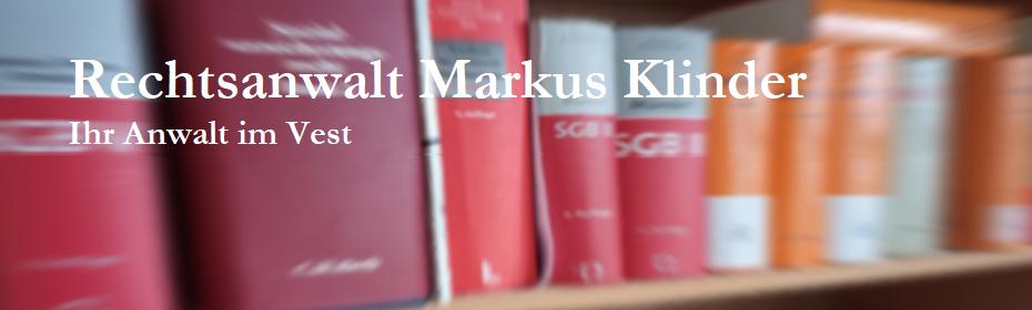 Rechtsanwalt Markus Klinder - Ihr Anwalt in Marl